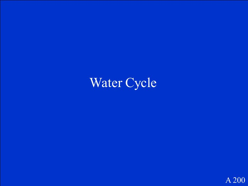 Water Cycle A 200