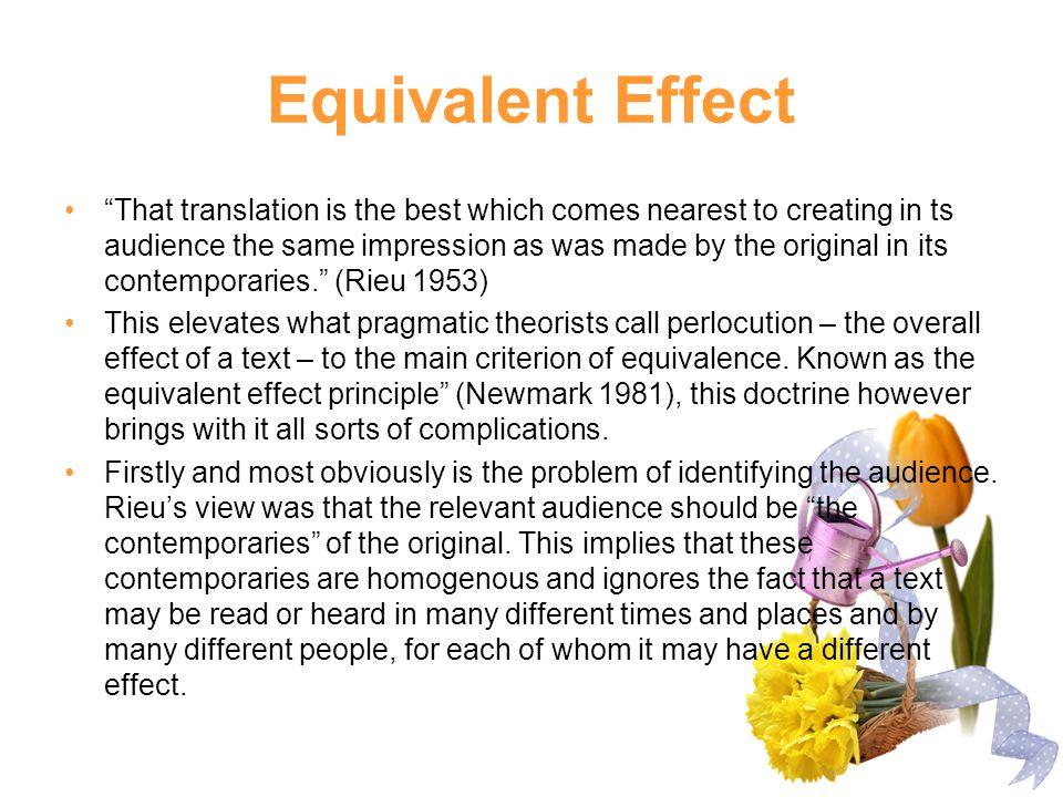 Equivalent Effect