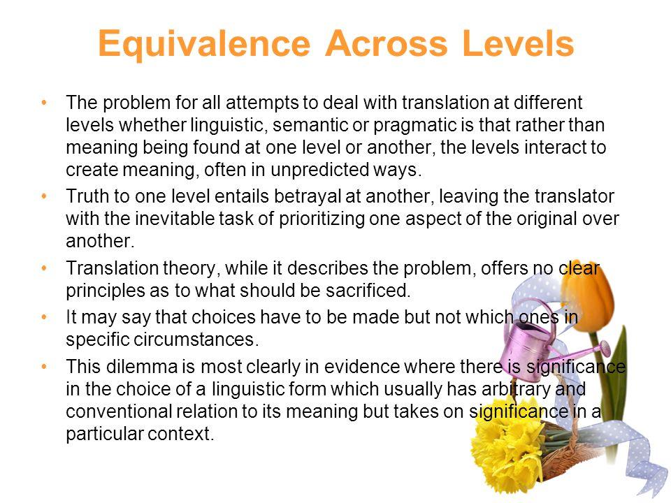 Equivalence Across Levels