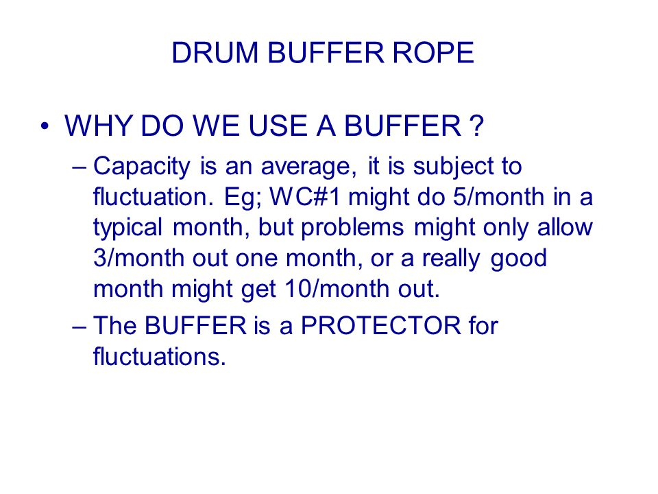 DRUM BUFFER ROPE WHY DO WE USE A BUFFER