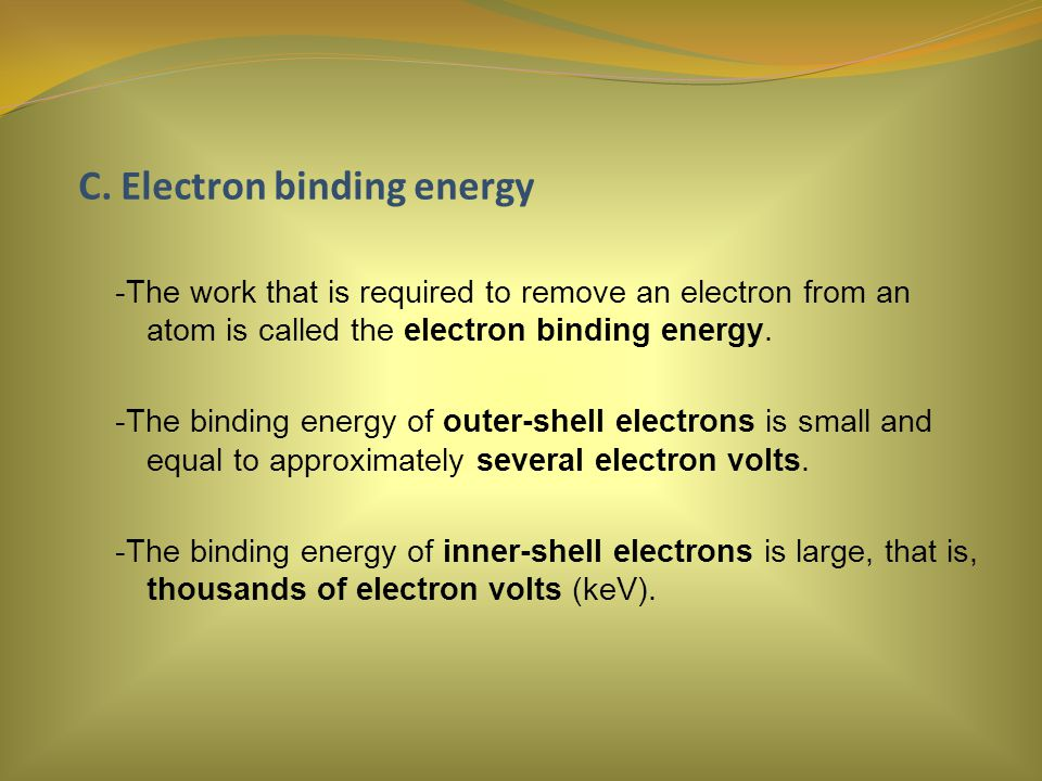 C. Electron binding energy