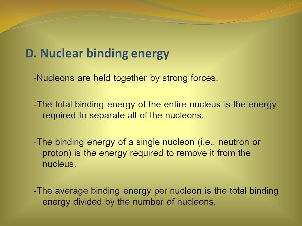 D. Nuclear binding energy