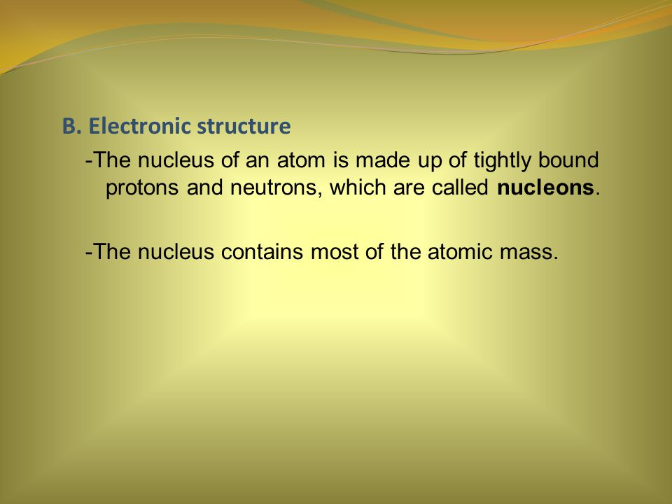 B. Electronic structure