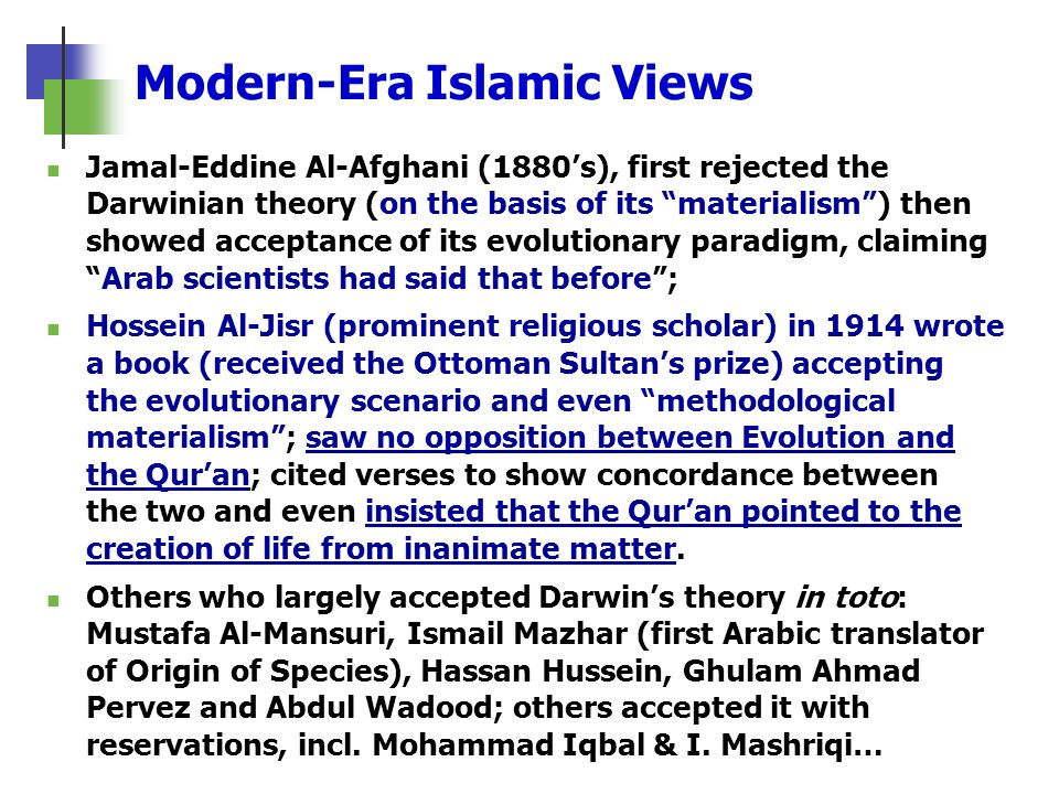 Modern-Era Islamic Views