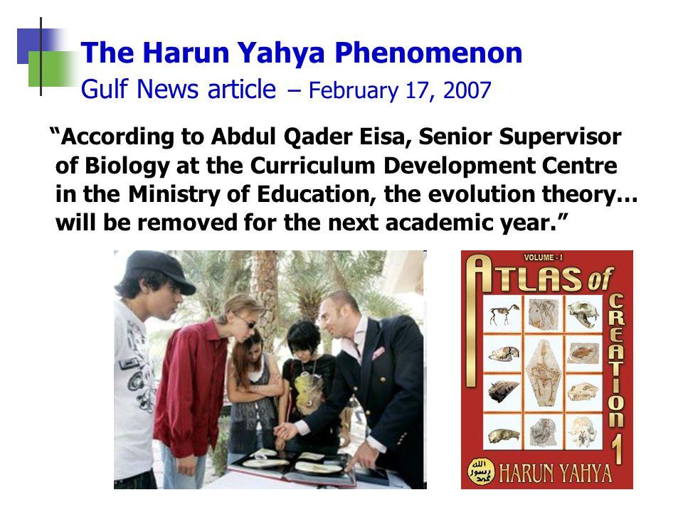 The Harun Yahya Phenomenon Gulf News article – February 17, 2007