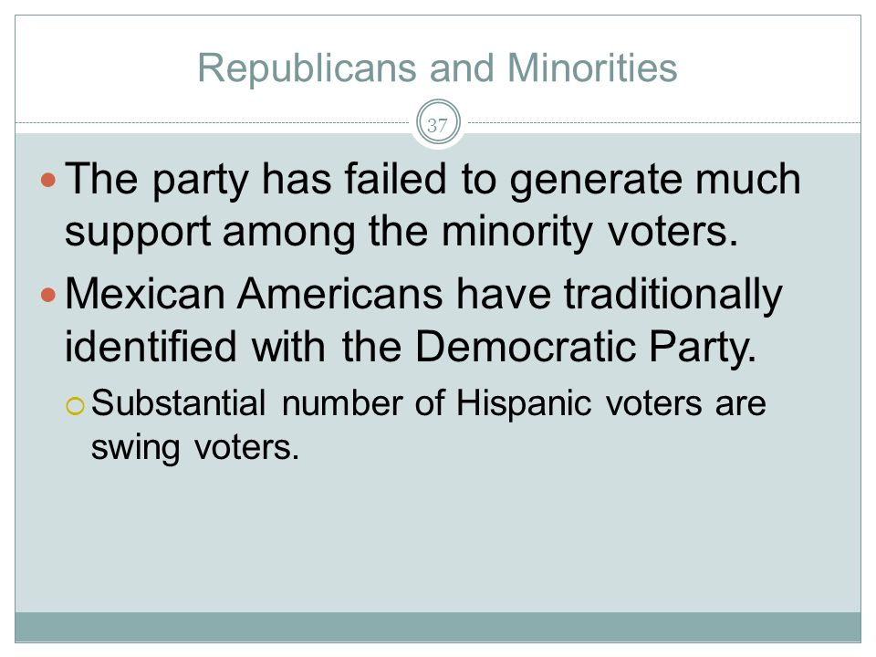Republicans and Minorities