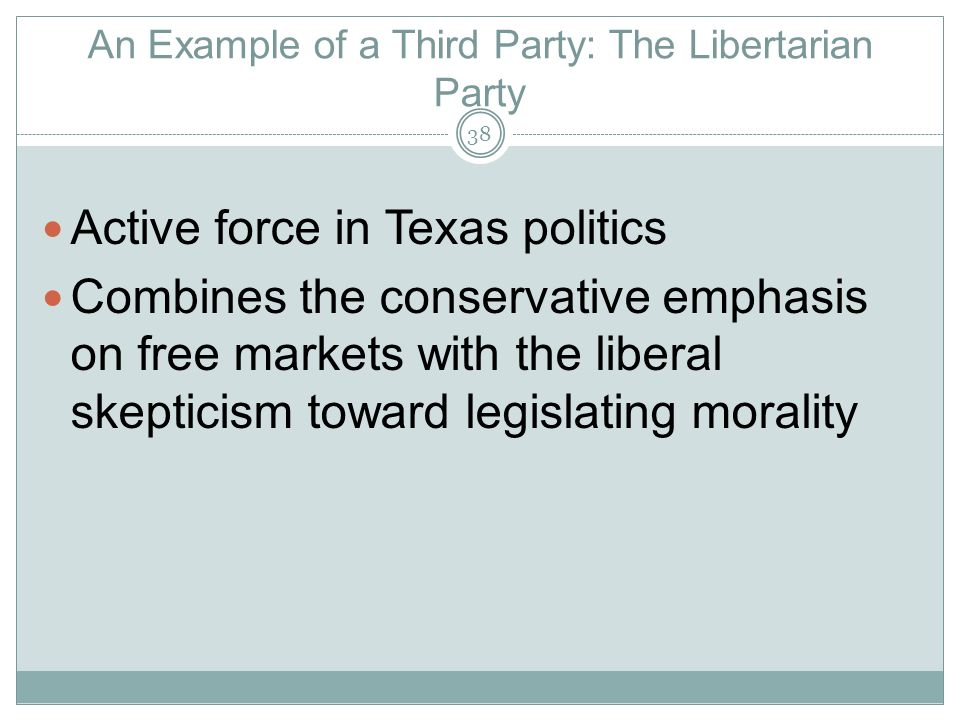 An Example of a Third Party: The Libertarian Party