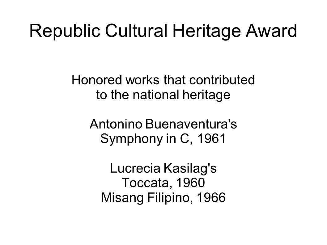 Republic Cultural Heritage Award