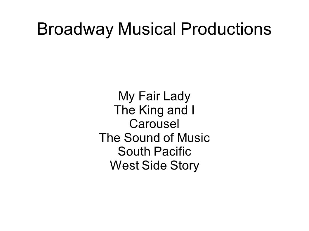 Broadway Musical Productions