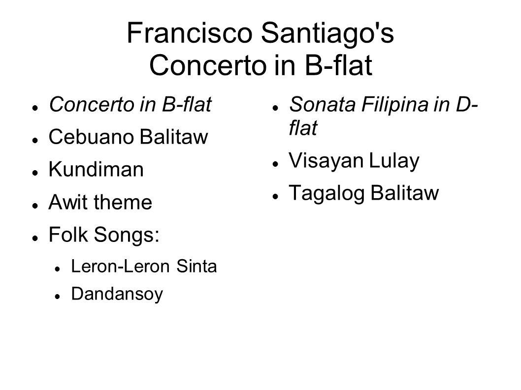Francisco Santiago s Concerto in B-flat