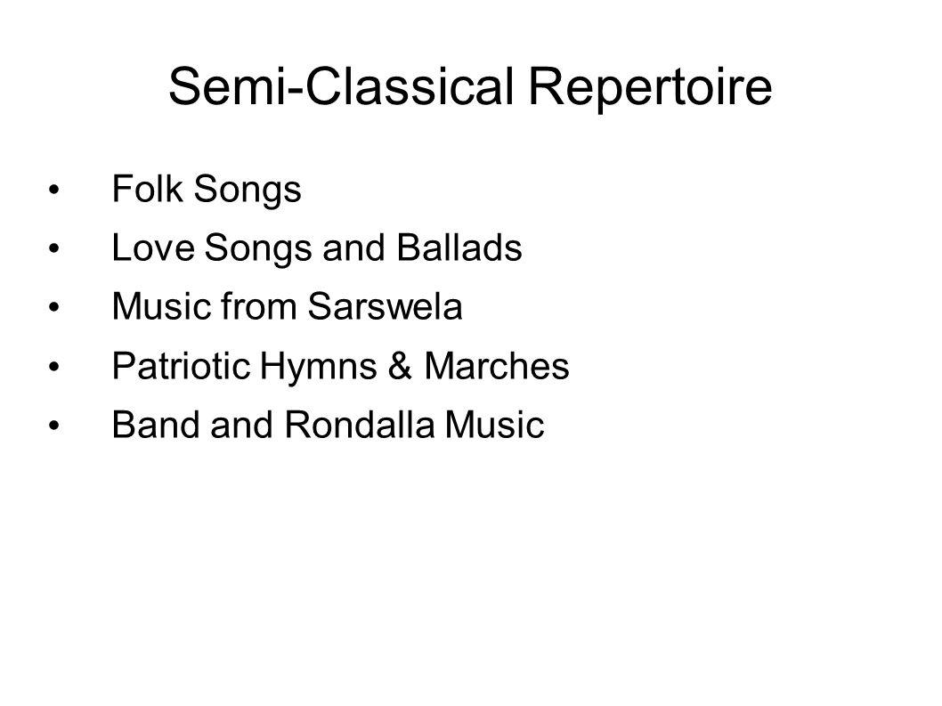 Semi-Classical Repertoire