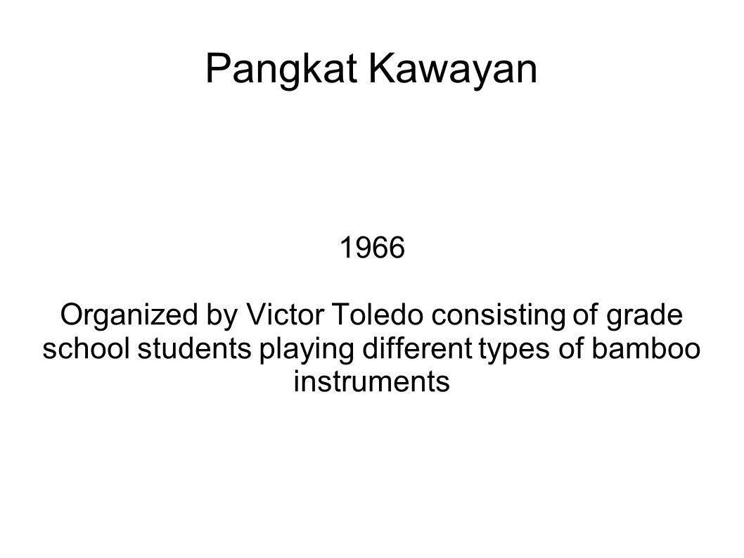 Pangkat Kawayan 1966.