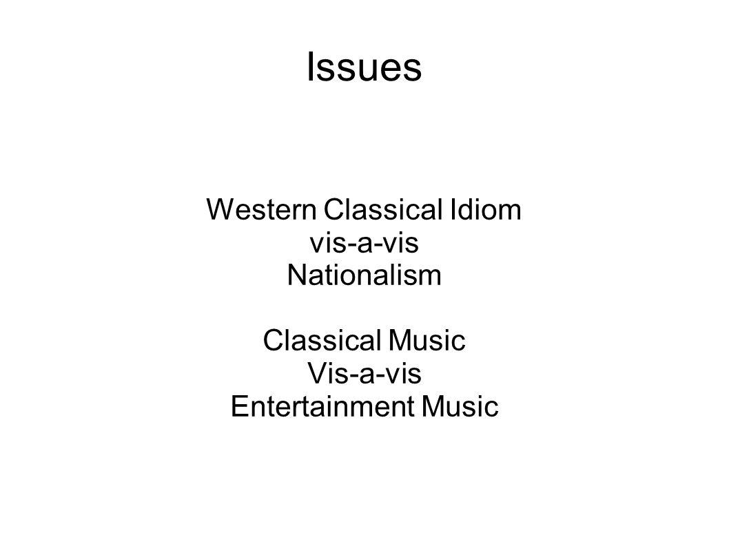 Western Classical Idiom