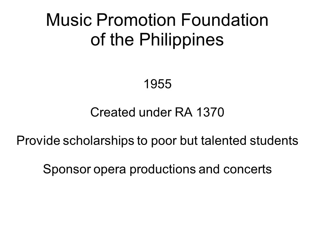Music Promotion Foundation of the Philippines