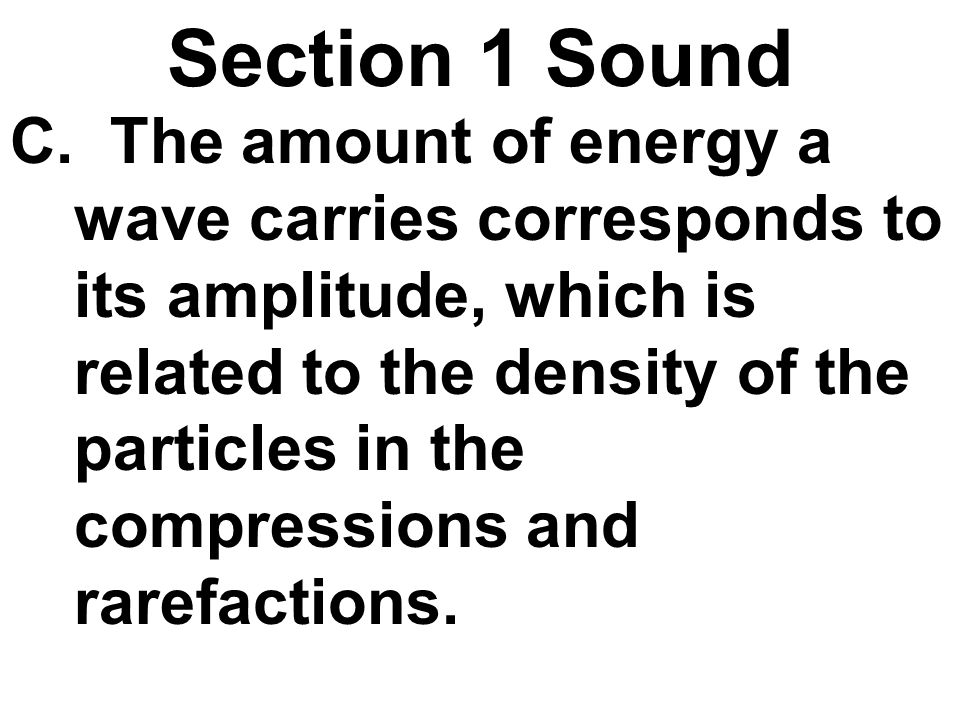 Section 1 Sound