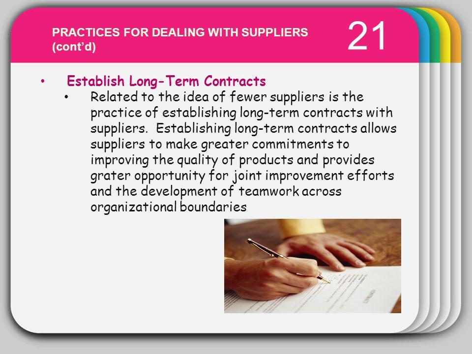 WINTER 21 Template Establish Long-Term Contracts