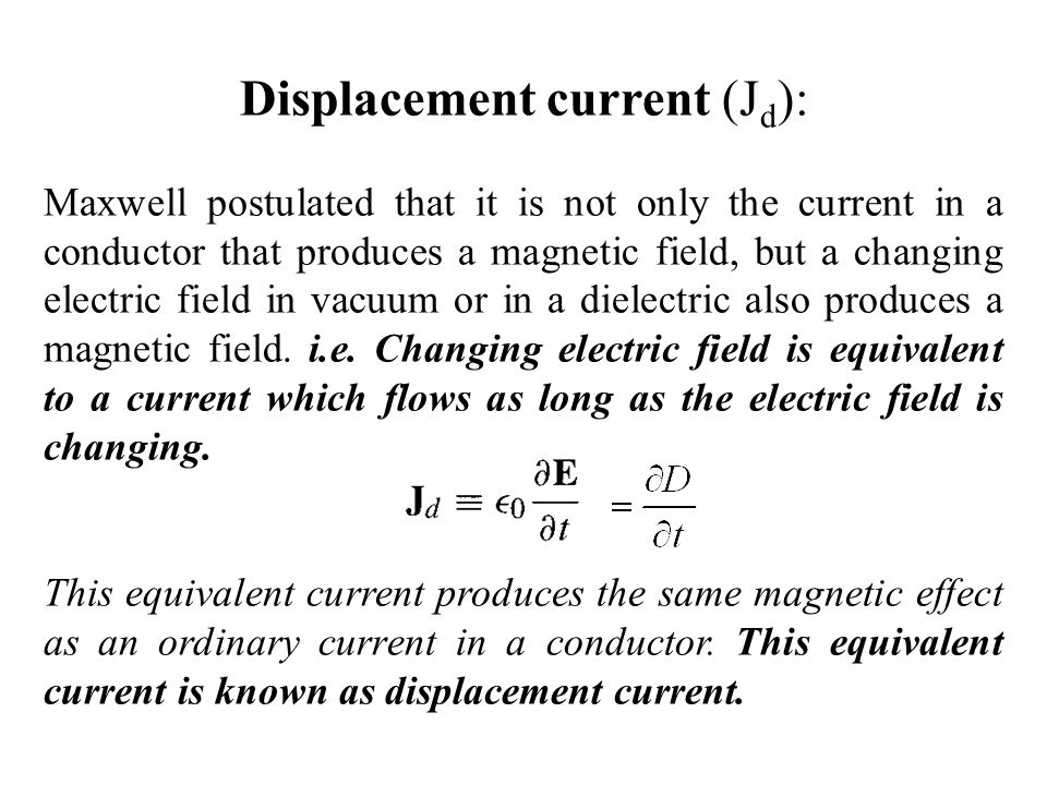 Displacement current (Jd):