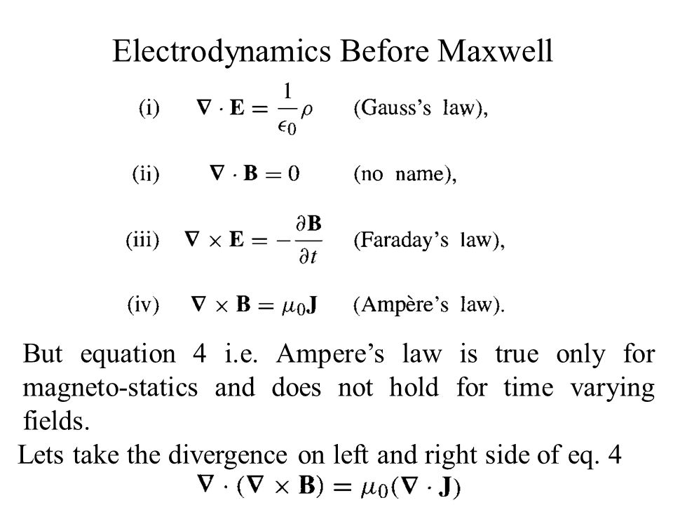 Electrodynamics Before Maxwell