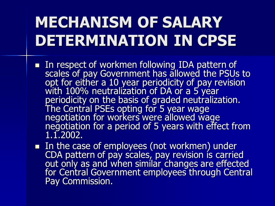 MECHANISM OF SALARY DETERMINATION IN CPSE
