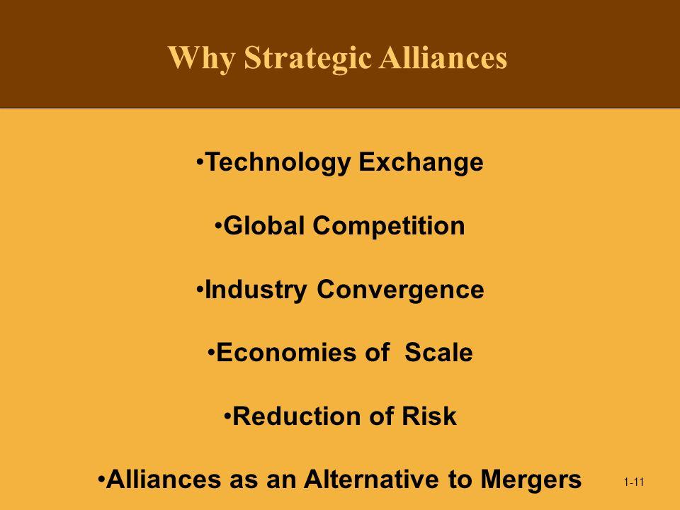 Why Strategic Alliances