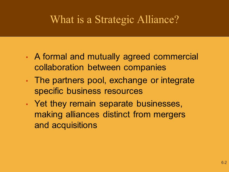 What is a Strategic Alliance