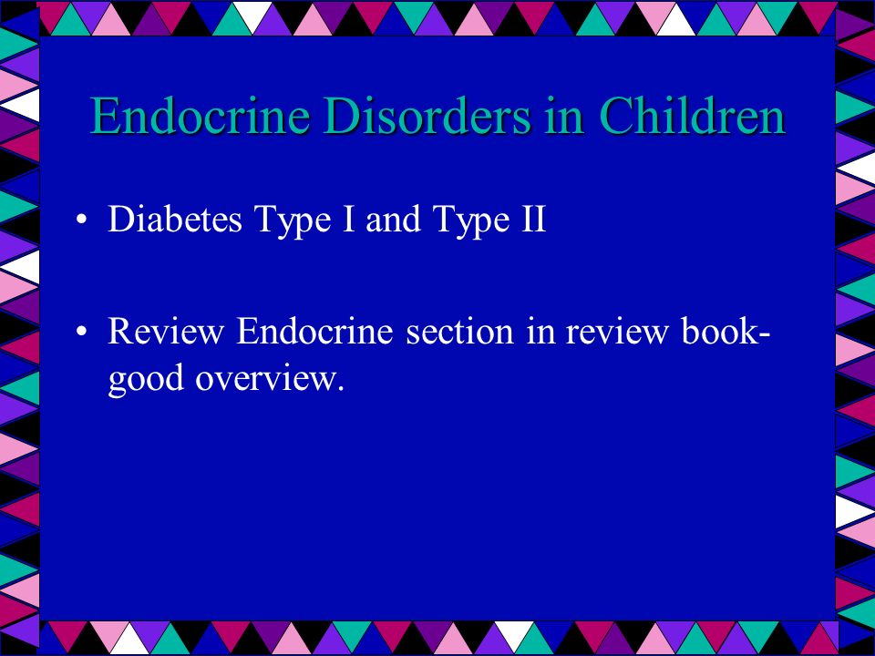 Endocrine Disorders in Children