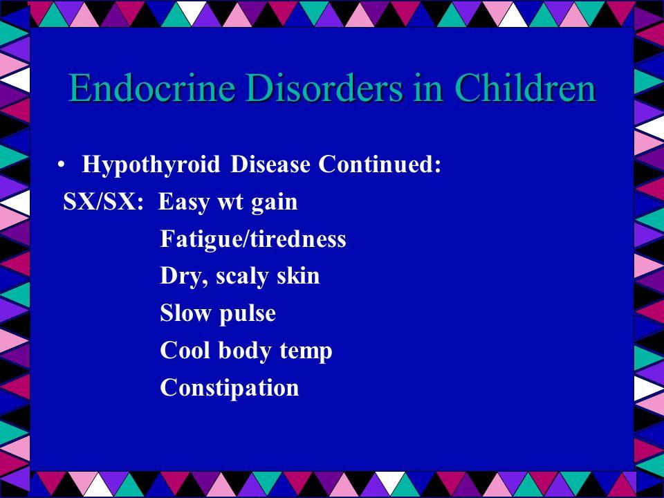 Endocrine Disorders in Children