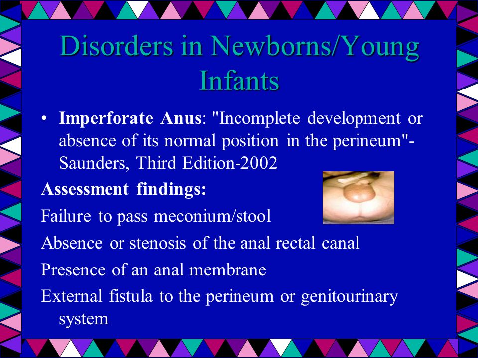 Disorders in Newborns/Young Infants