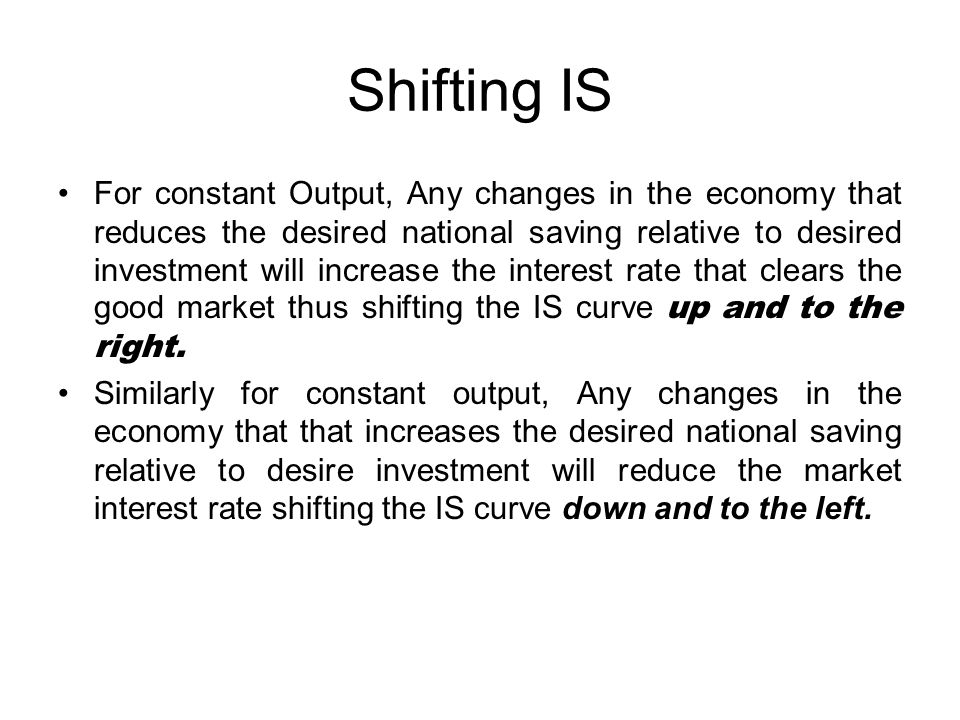 Shifting IS