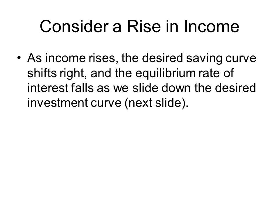 Consider a Rise in Income
