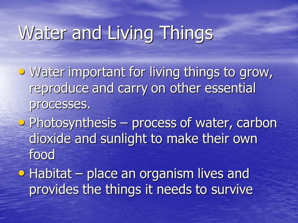 Water and Living Things