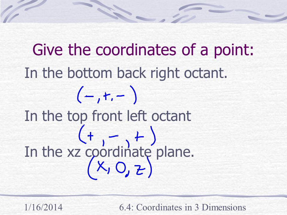 Give the coordinates of a point: