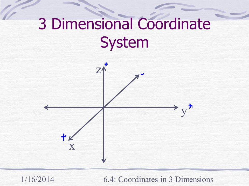 3 Dimensional Coordinate System