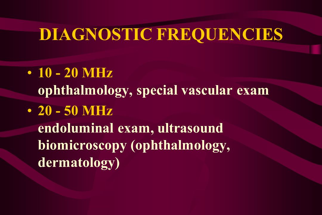 DIAGNOSTIC FREQUENCIES