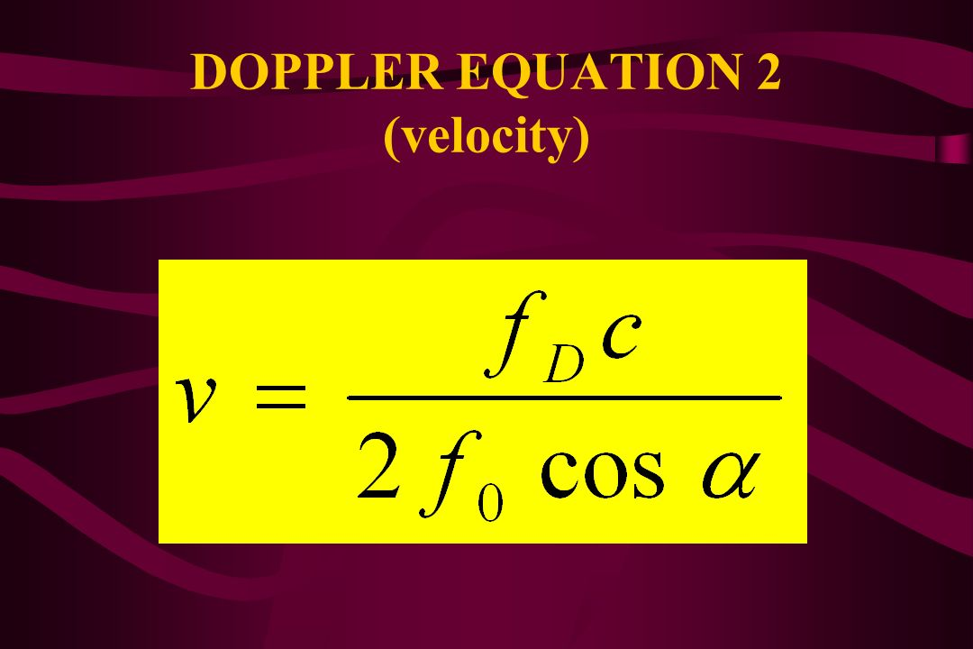 DOPPLER EQUATION 2 (velocity)