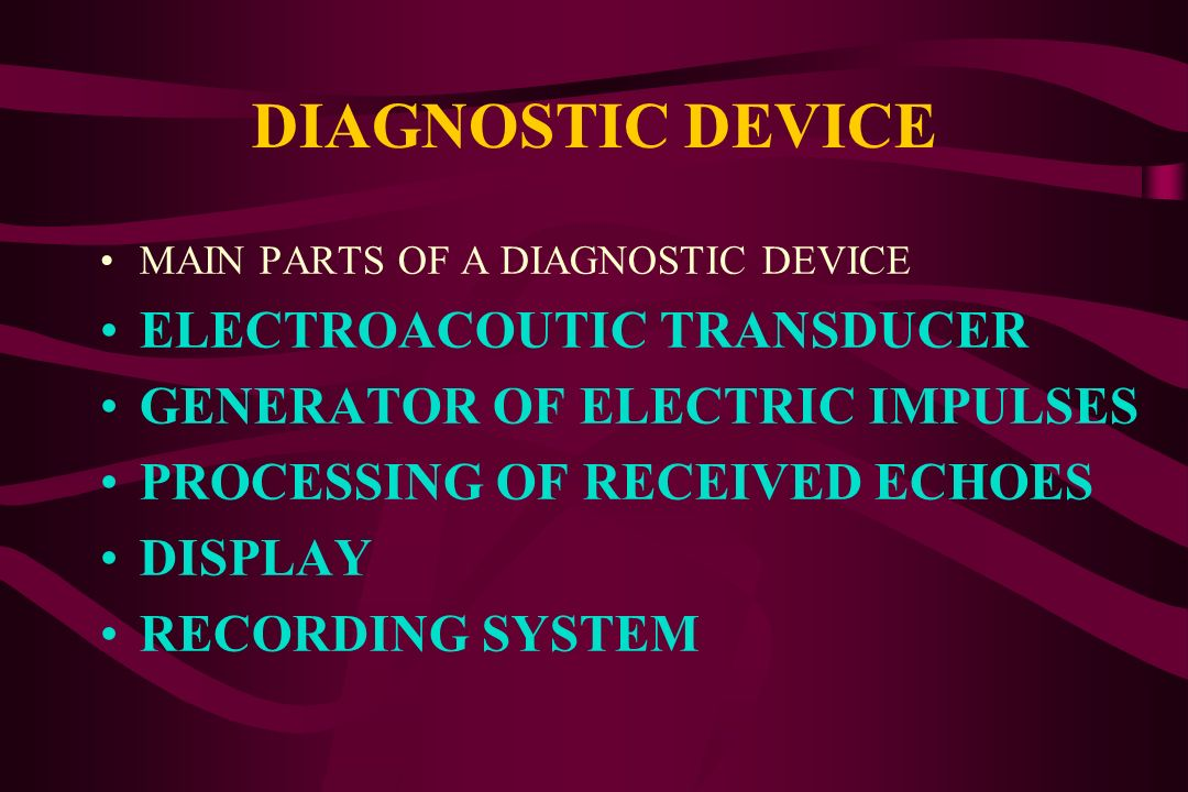 DIAGNOSTIC DEVICE ELECTROACOUTIC TRANSDUCER