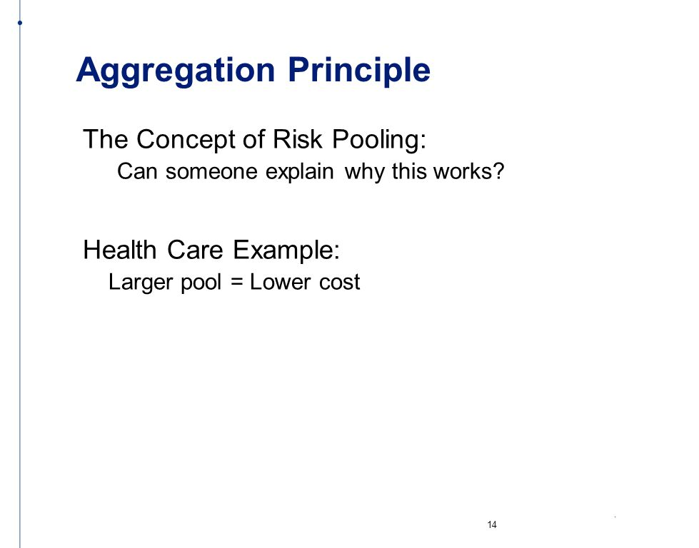 Aggregation Principle