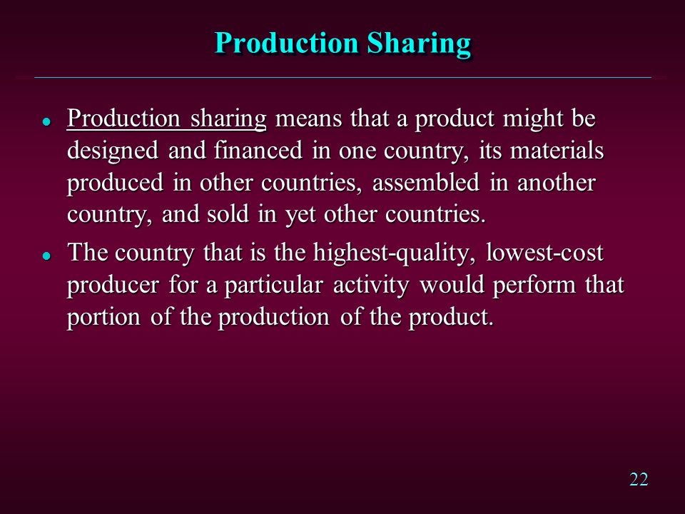 Production Sharing