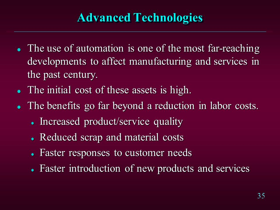 Advanced Technologies