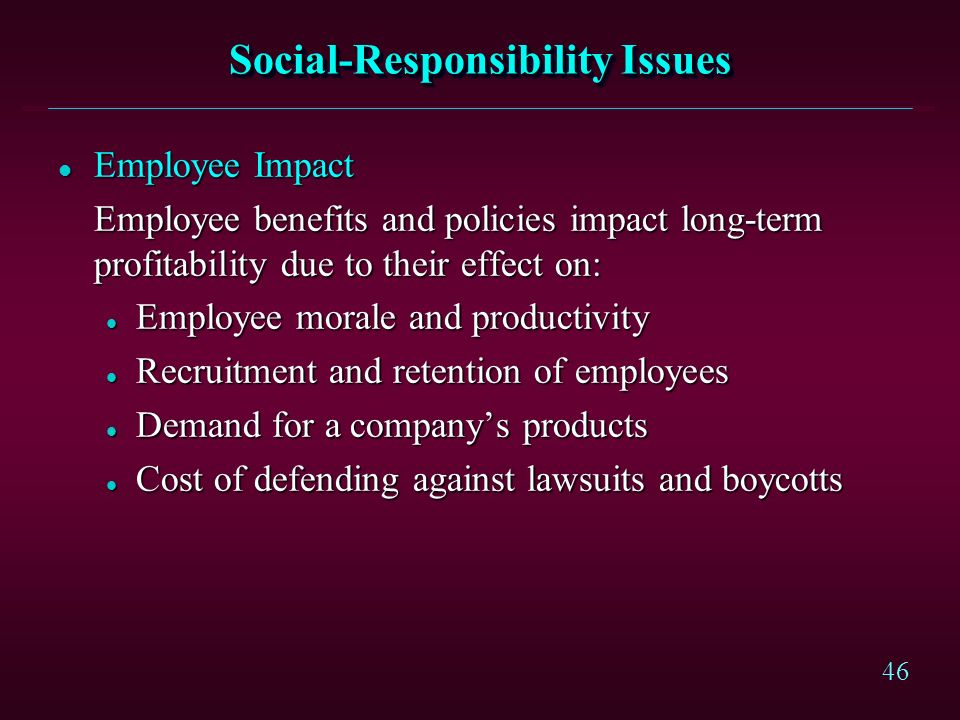 Social-Responsibility Issues