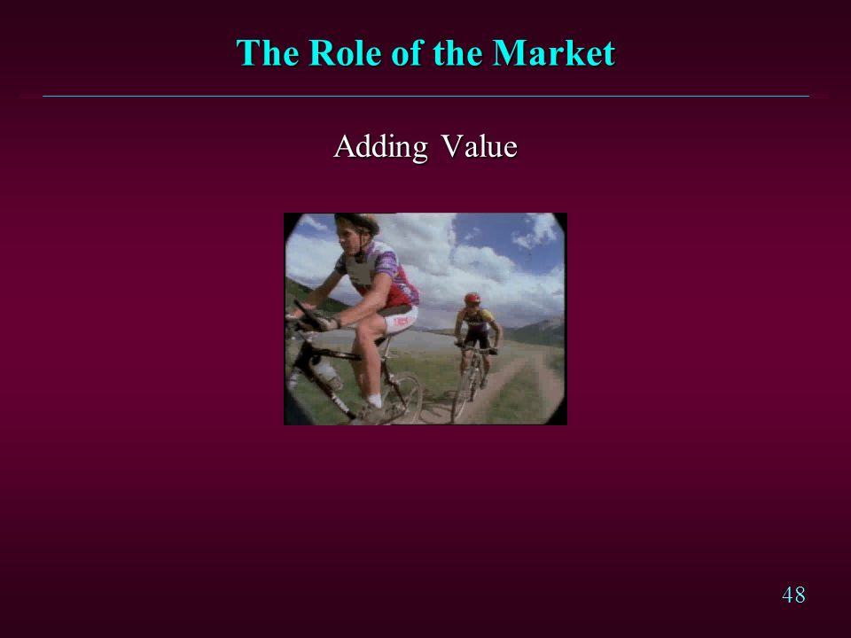 The Role of the Market Adding Value Competitive Priorities - Value