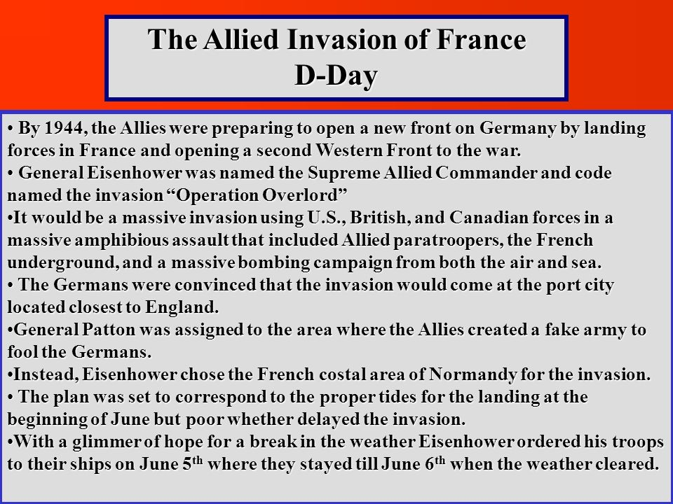The Allied Invasion of France