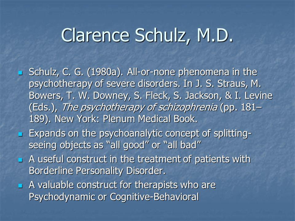 Clarence Schulz, M.D.