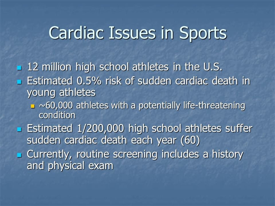 Cardiac Issues in Sports