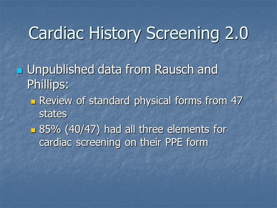 Cardiac History Screening 2.0