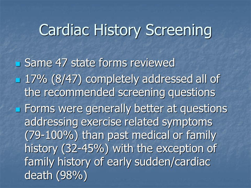 Cardiac History Screening