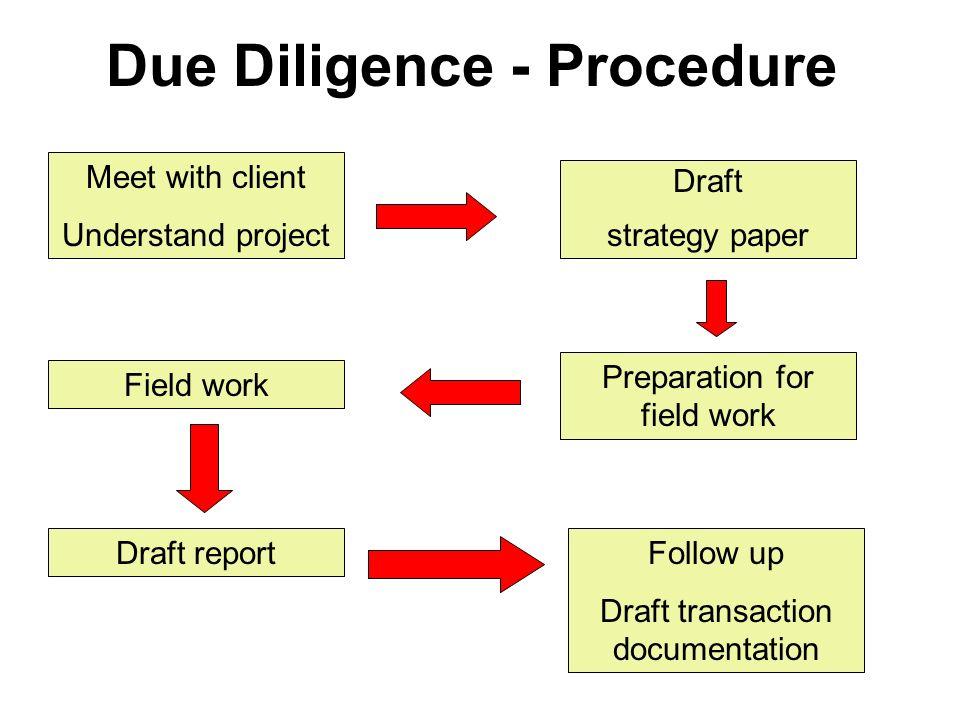 Due Diligence - Procedure