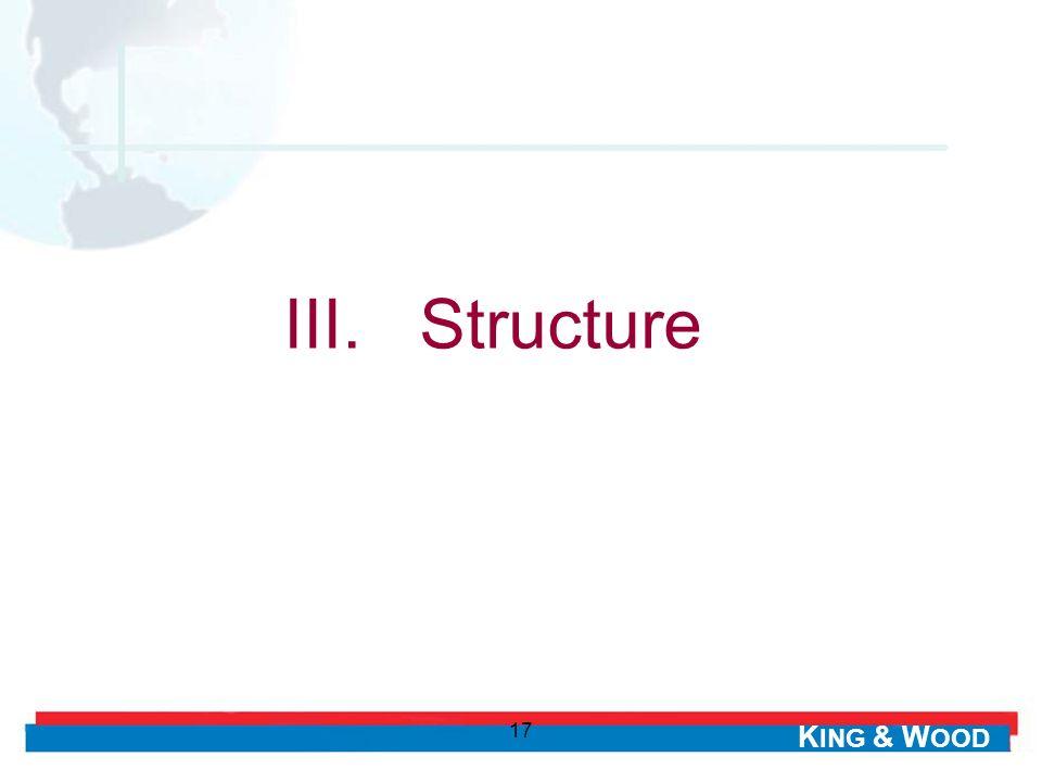 III. Structure 17