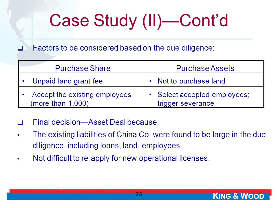 Case Study (II)—Cont'd