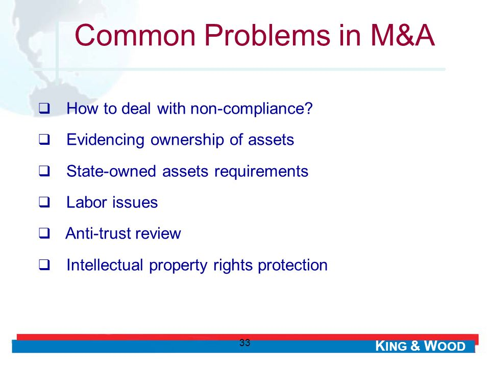 Common Problems in M&A How to deal with non-compliance